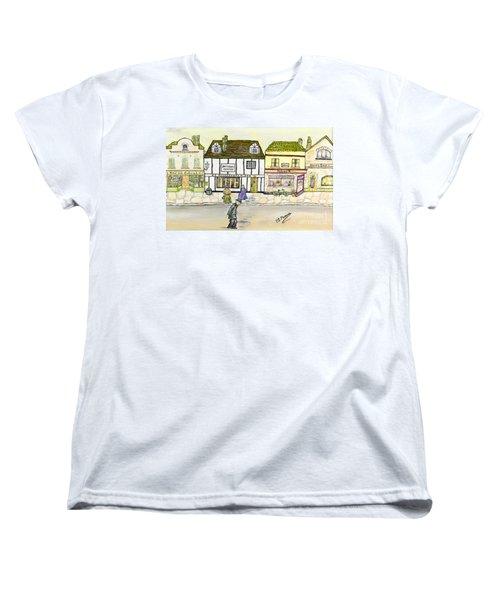 Women's T-Shirt (Standard Cut) featuring the painting High Street by Loredana Messina
