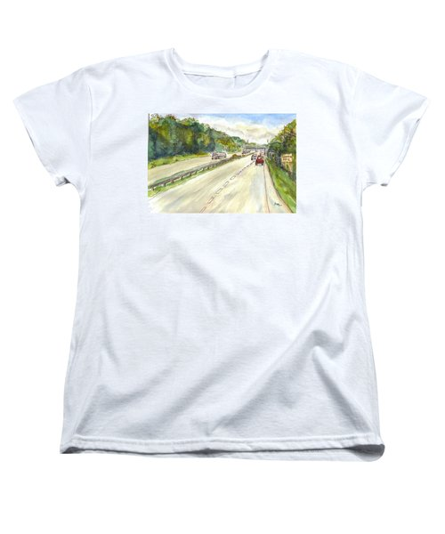 Highway 95 Women's T-Shirt (Standard Cut) by Clara Sue Beym