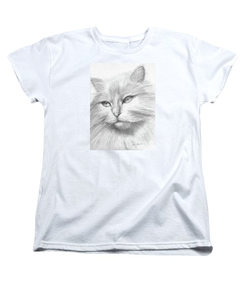 Himalayan Cat Women's T-Shirt (Standard Cut) by Lena Auxier