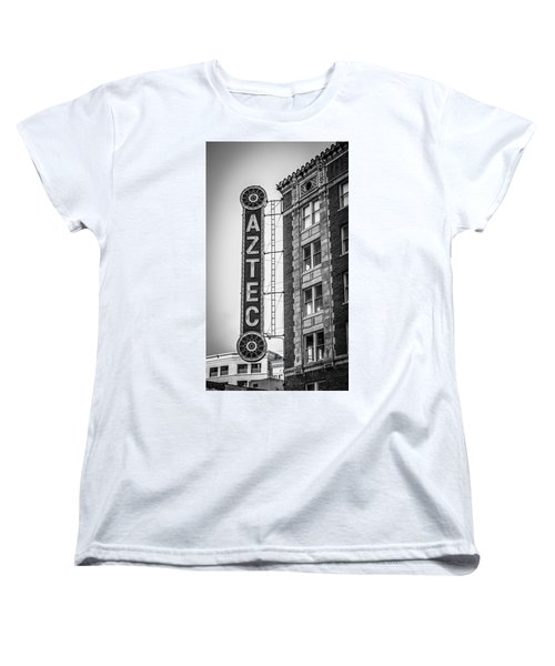Historic Aztec Theater Women's T-Shirt (Standard Cut) by Melinda Ledsome