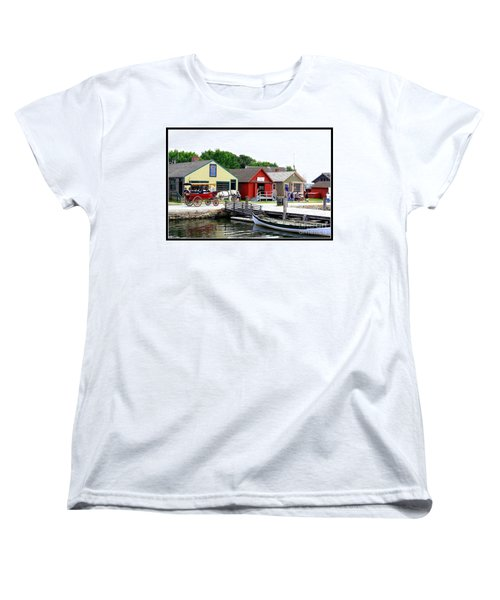 Historic Mystic Seaport Women's T-Shirt (Standard Cut) by Dora Sofia Caputo Photographic Art and Design