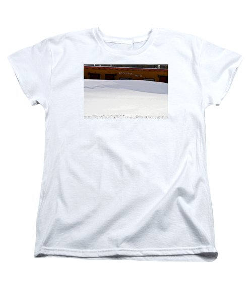 Hitchin' Post April Women's T-Shirt (Standard Cut) by Jeremy Rhoades