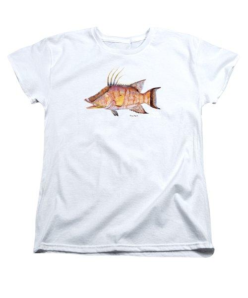 Hog Fish Women's T-Shirt (Standard Cut) by Carey Chen
