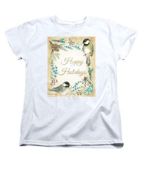 Holiday Wishes II Women's T-Shirt (Standard Cut) by Elyse Deneige