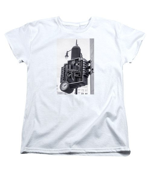Hollywood Landmarks - Hollywood And Vine Sign Women's T-Shirt (Standard Cut) by Art Block Collections