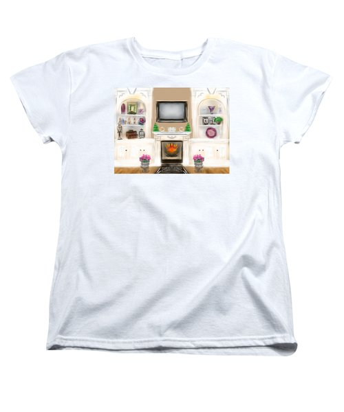 Women's T-Shirt (Standard Cut) featuring the digital art Home For The Holidays by Christine Fournier