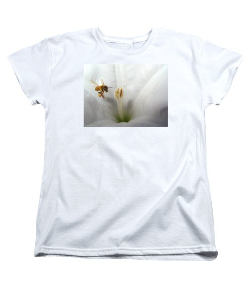 Honey Bee Up Close And Personal Women's T-Shirt (Standard Cut) by Joyce Dickens