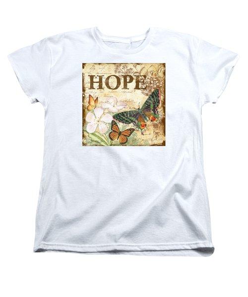Hope And Butterflies Women's T-Shirt (Standard Cut) by Jean Plout