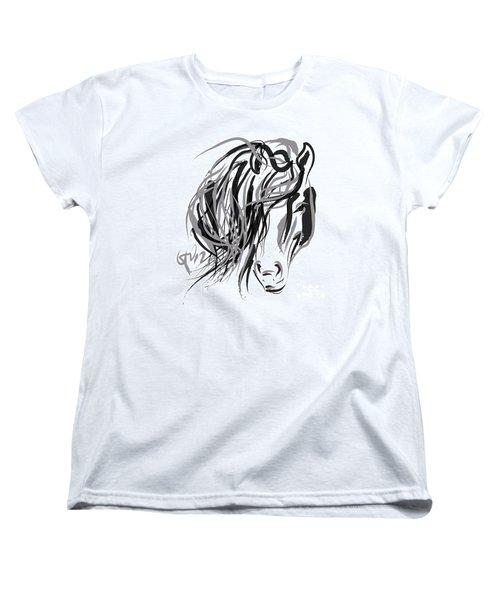 Horse- Hair And Horse Women's T-Shirt (Standard Cut) by Go Van Kampen