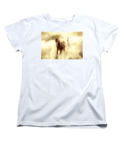 Horses Of The Mist Women's T-Shirt (Standard Cut) by Greg Collins