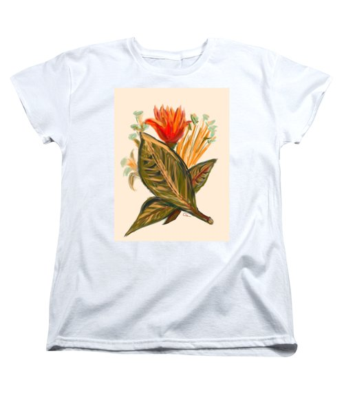 Women's T-Shirt (Standard Cut) featuring the digital art Hot Tulip Spring by Christine Fournier