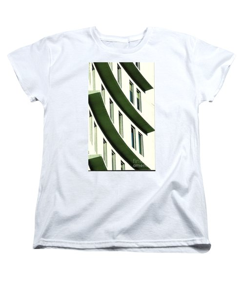 Women's T-Shirt (Standard Cut) featuring the photograph Hotel Ledges Of A New Orleans Louisiana Hotel by Michael Hoard