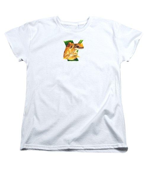 Hourglass Treefrog Women's T-Shirt (Standard Cut) by Cindy Hitchcock
