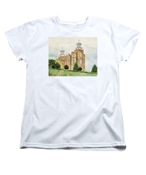 Women's T-Shirt (Standard Cut) featuring the painting House Of Defense by Greg Collins