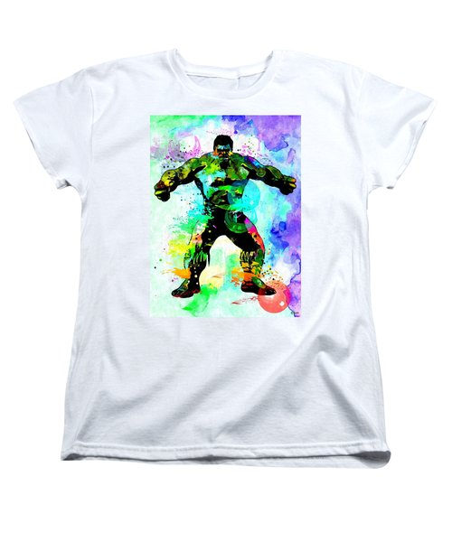 Hulk Watercolor Women's T-Shirt (Standard Cut)
