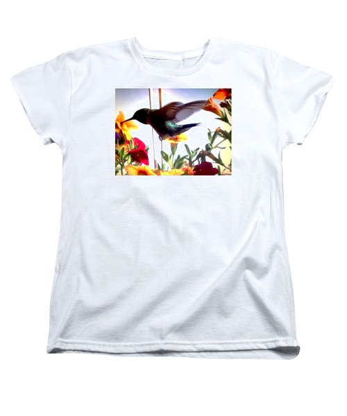 Hummingbird Women's T-Shirt (Standard Cut) by Renee Michelle Wenker