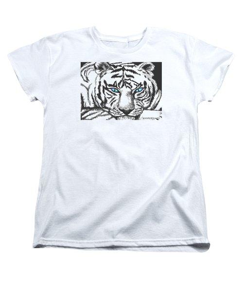 Women's T-Shirt (Standard Cut) featuring the drawing Hungry Eyes by Sophia Schmierer