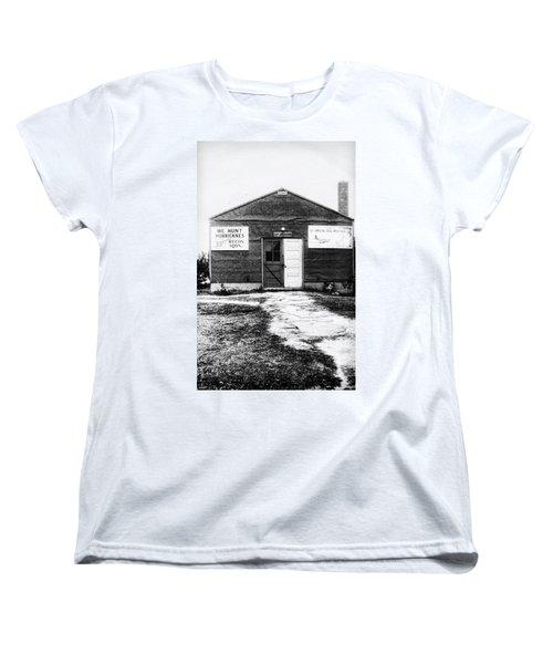 Hurricane Hunters Outbuilding In Alaska Women's T-Shirt (Standard Cut) by Vizual Studio