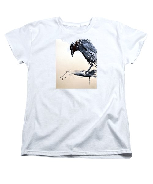 Women's T-Shirt (Standard Cut) featuring the painting I Am A Crow by Beverley Harper Tinsley