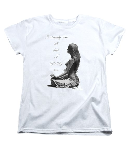 Women's T-Shirt (Standard Cut) featuring the drawing I Am by Marianne NANA Betts