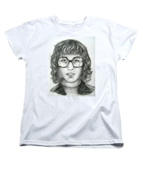 Women's T-Shirt (Standard Cut) featuring the drawing Robin Gibb by Patrice Torrillo