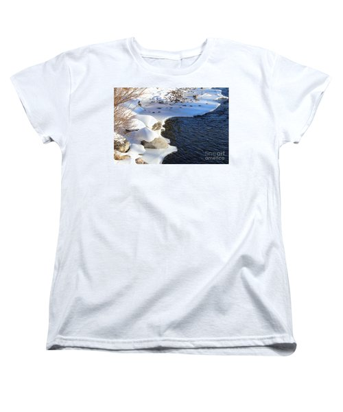 Women's T-Shirt (Standard Cut) featuring the photograph Ice Cold Water by Fiona Kennard