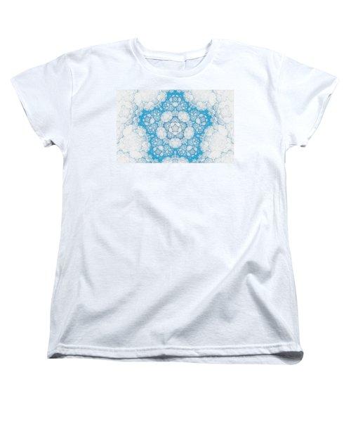 Women's T-Shirt (Standard Cut) featuring the digital art Ice Crystals by GJ Blackman