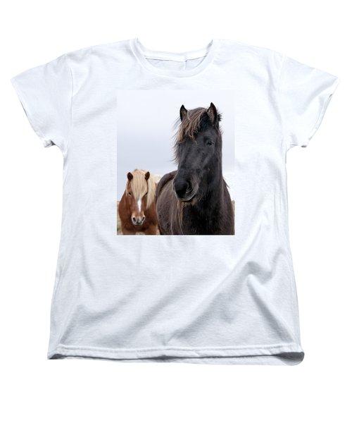 Iceland Horses Women's T-Shirt (Standard Cut) by Mike Santis