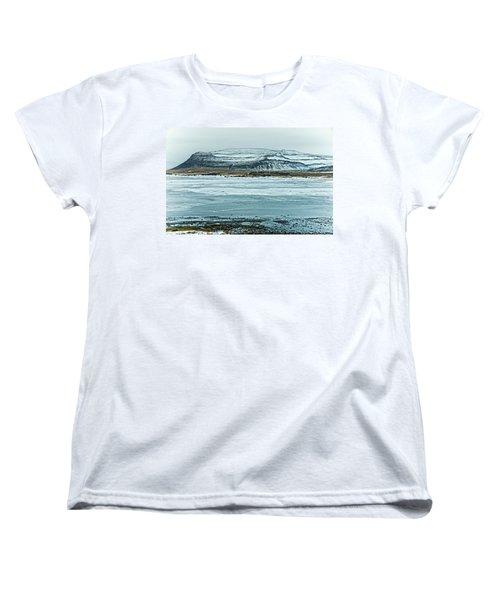 Icelandic Winter Landscape Women's T-Shirt (Standard Cut) by Mike Santis