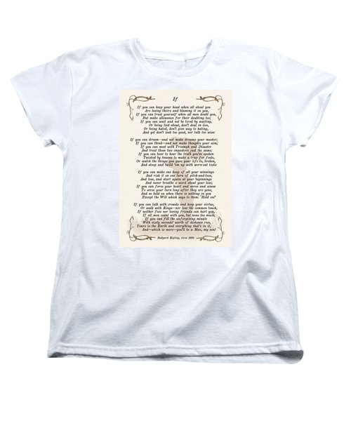 If Poem By Rudyard Kipling Women's T-Shirt (Standard Cut) by Olga Hamilton