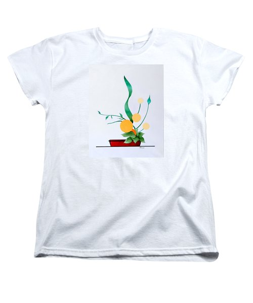 Ikebana #1 Red Pot Women's T-Shirt (Standard Cut) by Thomas Gronowski