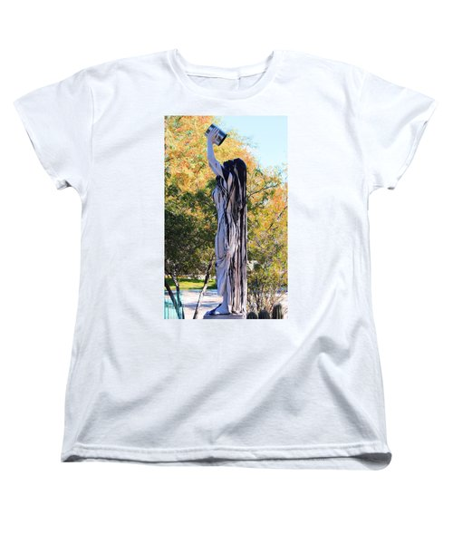 Immersed In Paint Women's T-Shirt (Standard Cut) by Natalie Ortiz