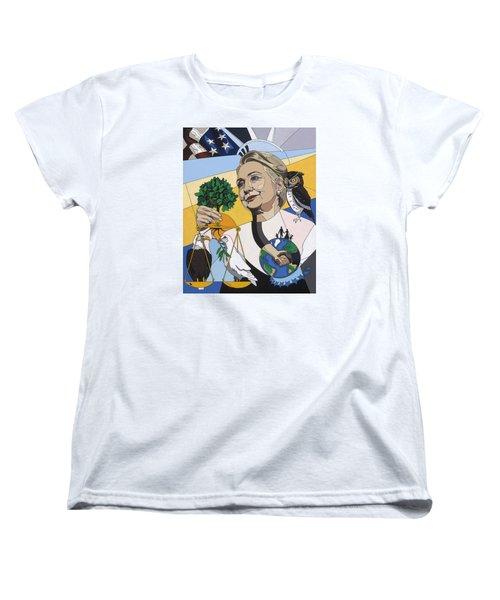 In Honor Of Hillary Clinton Women's T-Shirt (Standard Cut) by Konni Jensen
