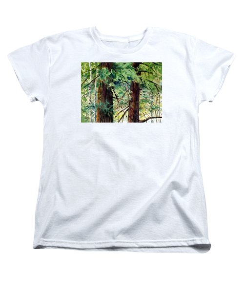 Women's T-Shirt (Standard Cut) featuring the painting In The Canopy by Donald Maier
