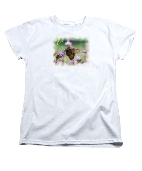 Women's T-Shirt (Standard Cut) featuring the photograph In The Flowers by Kerri Farley