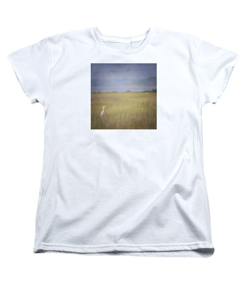 Women's T-Shirt (Standard Cut) featuring the photograph In The Marsh  by Kerri Farley