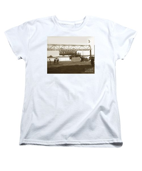 Women's T-Shirt (Standard Cut) featuring the photograph Incredible Hanging Railway  1900 by California Views Mr Pat Hathaway Archives