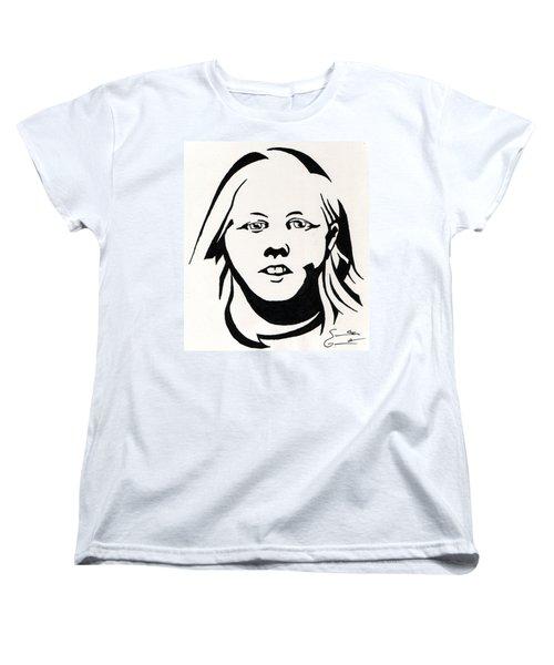 Ink Portrait Women's T-Shirt (Standard Cut) by Samantha Geernaert