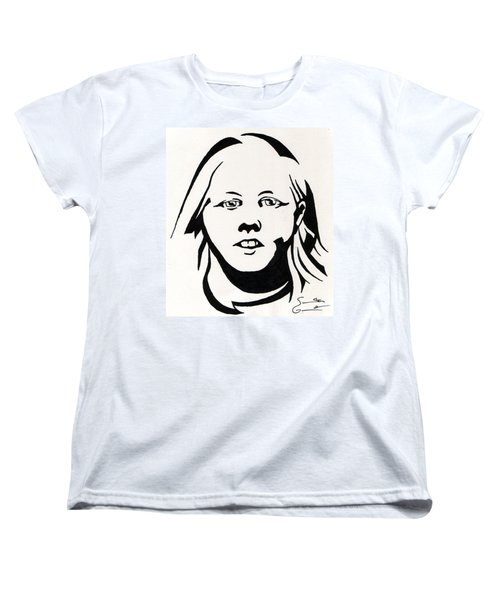 Ink Portrait Women's T-Shirt (Standard Cut)