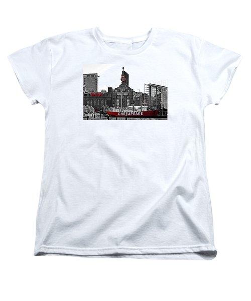 Inner Harbor Women's T-Shirt (Standard Cut) by DJ Florek