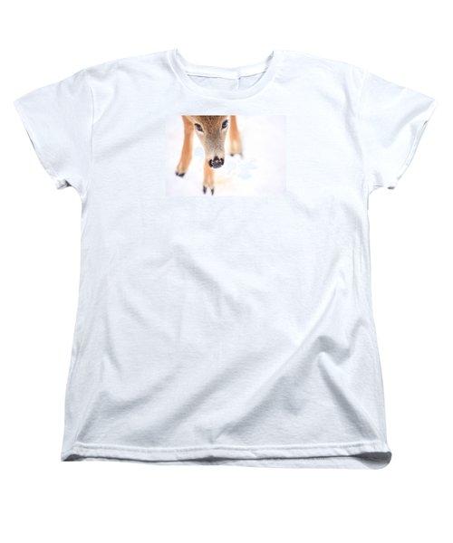 Innocent Eyes Women's T-Shirt (Standard Cut) by Karol Livote