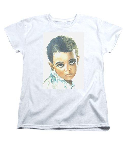 Women's T-Shirt (Standard Cut) featuring the painting Innocent Sorrow by Sophia Schmierer