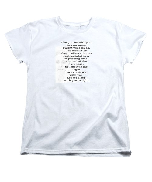 Women's T-Shirt (Standard Cut) featuring the photograph Insomnia  by Lisa Piper
