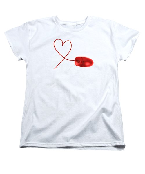 Internet Love Women's T-Shirt (Standard Cut) by Chevy Fleet