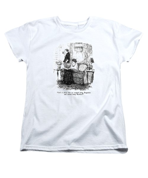 Isn't It About Time We Stopped Being Reaganites Women's T-Shirt (Standard Cut) by Robert Weber