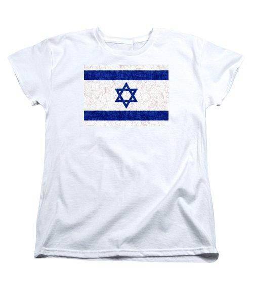 Israel Star Of David Flag Batik Women's T-Shirt (Standard Cut) by Kurt Van Wagner