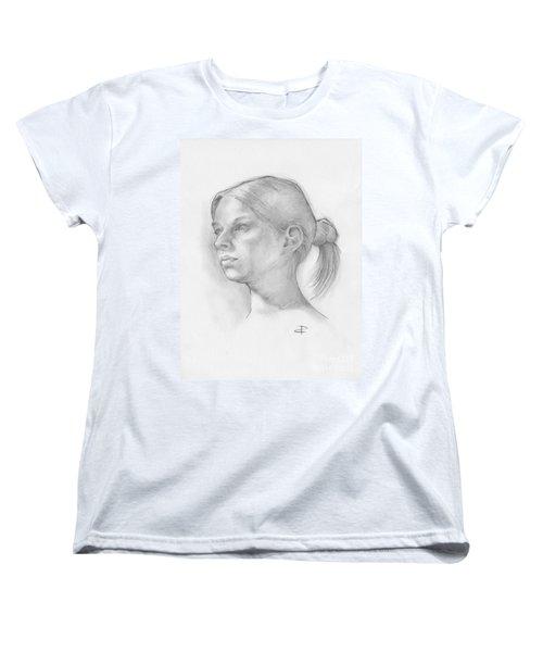 Women's T-Shirt (Standard Cut) featuring the drawing Issabell by Paul Davenport