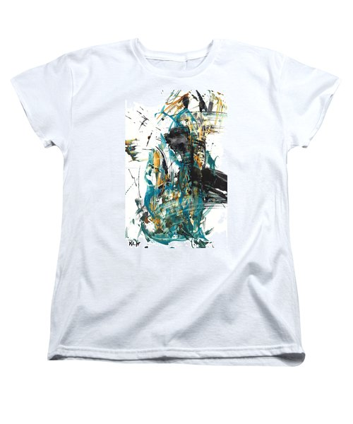 Women's T-Shirt (Standard Cut) featuring the painting It Went That Way 135.090710 by Kris Haas