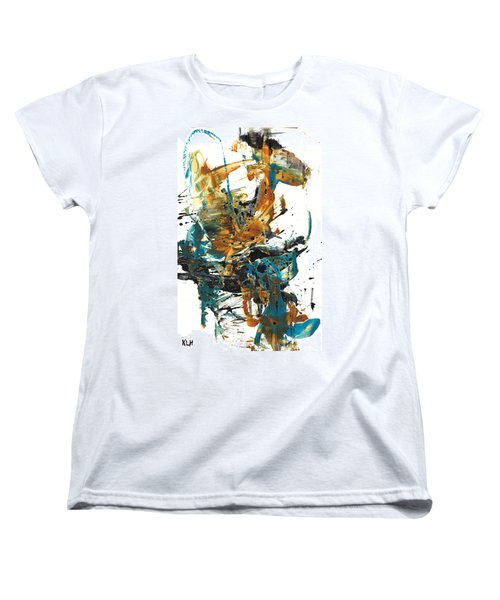 Women's T-Shirt (Standard Cut) featuring the painting It Went This Way 136.090710 by Kris Haas