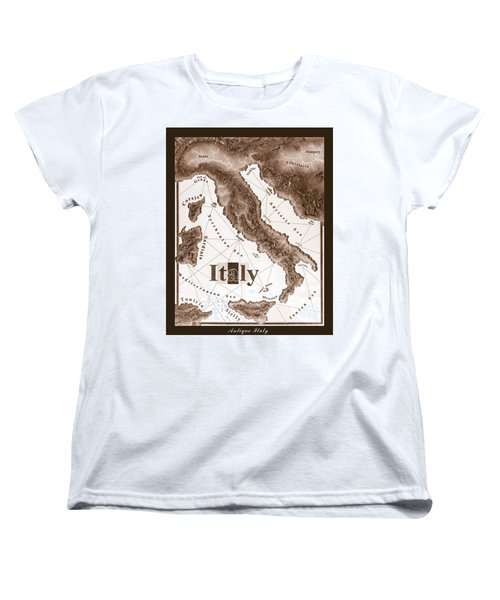 Italian Map Women's T-Shirt (Standard Cut) by Curtiss Shaffer